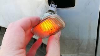 Замена лампы поворотника Toyota - что делать если окислились контакты в патроне