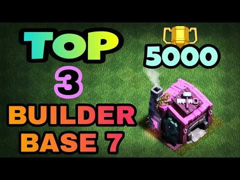 TOP 3 BUILDER BASE 7 LAYOUT WITH REPLAY | BEST BUILDER HALL 7 BASES IN COC | CLASH OF CLANS