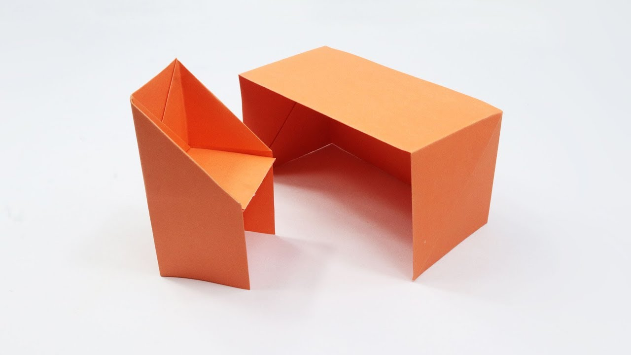 How To Make a Paper Table - Easy Origami Table Making Tutorial