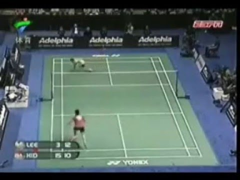 Partido de badminton profesional