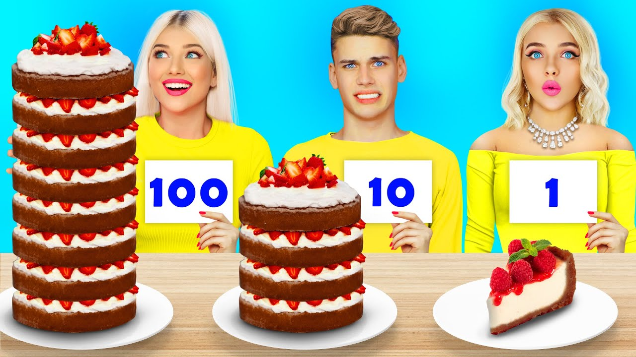 100 Layers of Cake Decorating Challenge | Epic Food Battle with Cake Decoration by RATATA CHALLENGE