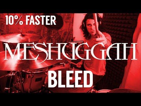 Meshuggah BLEED 10% FASTER Drum Cover by Bernardo Grillo