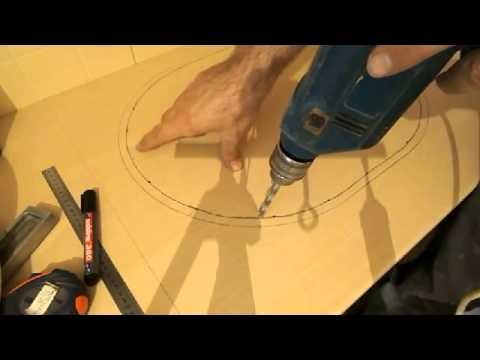 Как вырезать столешницу под мойку в домашних условиях видео
