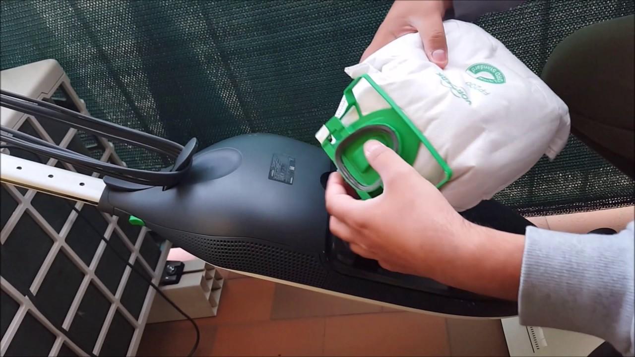 come si cambia il sacchetto nel folletto vk200