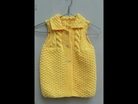 Đan áo len cho bé  3-6 tháng phần 2