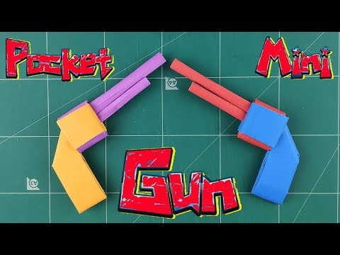 Paper Origami Weapons Guns | How to make a Easy Gun Paper Tutorial | DIY Paper Toy Making Handmade