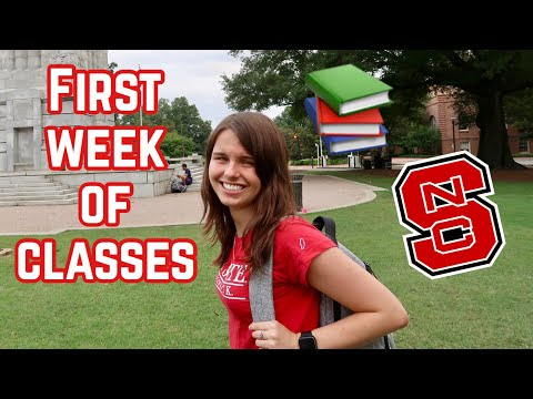 FIRST WEEK OF CLASSES VLOG @ NC State University