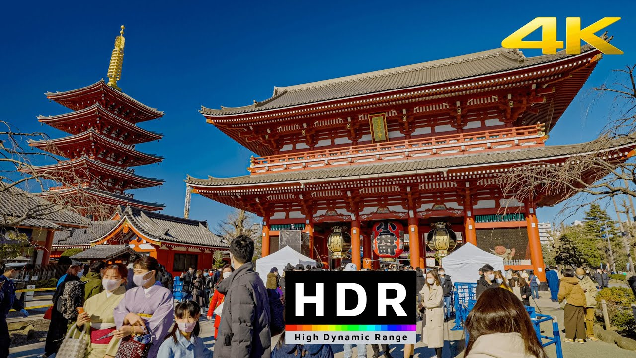 【4K HDR】Tokyo New Year's Day 2021