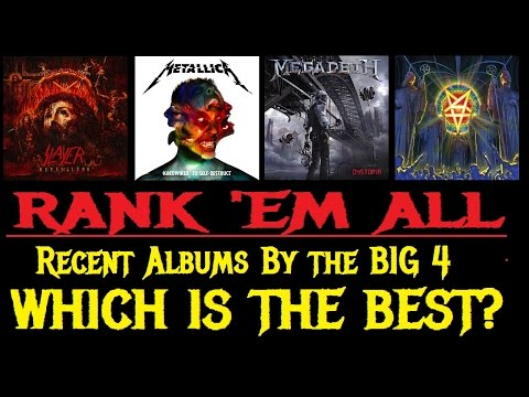 RANK 'EM ALL: Which BIG 4 Band Has The Best New Album?
