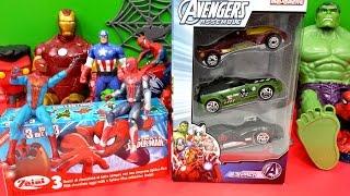 Surprise Eggs Spider-Man Ultimate Majorette Cars Marvel Anvengers Assemble Iron Man Thor Thumbnail