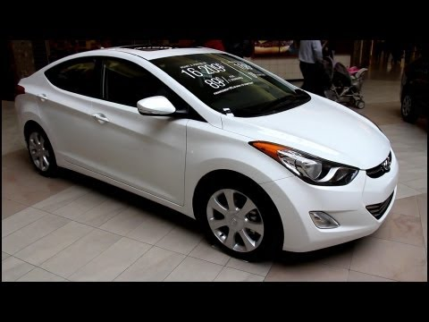 2013 Hyundai Elantra Limited Navigation Exterior and Interior Walkaround Canon T4i Video