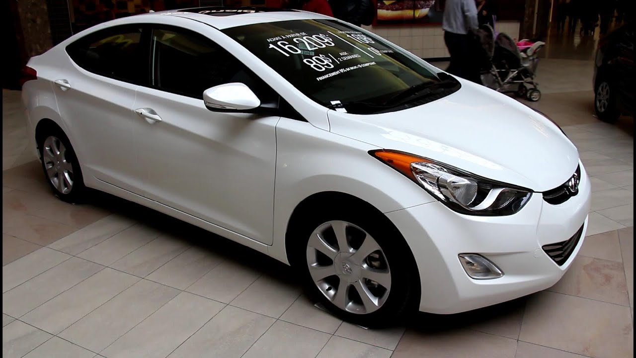 2013 Hyundai Elantra Limited White Car Tuning