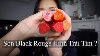 Son Black Rouge Trái Tim Siêu Đáng Yêu - Color Lock Heart Tint ( Swatch + Review )   Con Thỏ