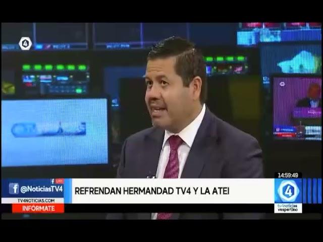 Entrevista de Gabriel Torres Espinoza, presidente de ATEI, en TV4 de Guanajuato, México.