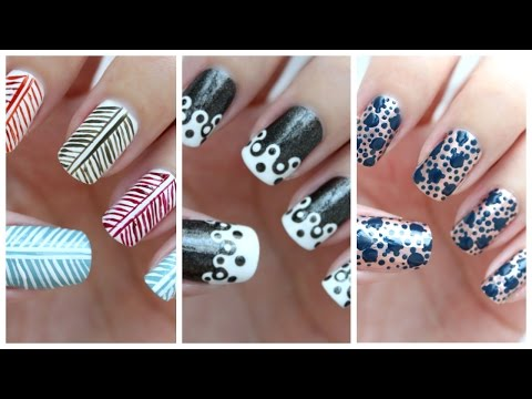 Easy Nail Art For Beginners!!! #25 | JennyClaireFox