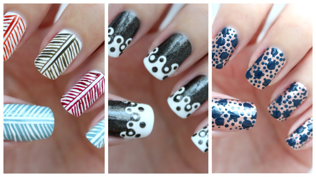 Easy Nail Art For Beginners!!! #25 | JennyClaireFox - YouTube