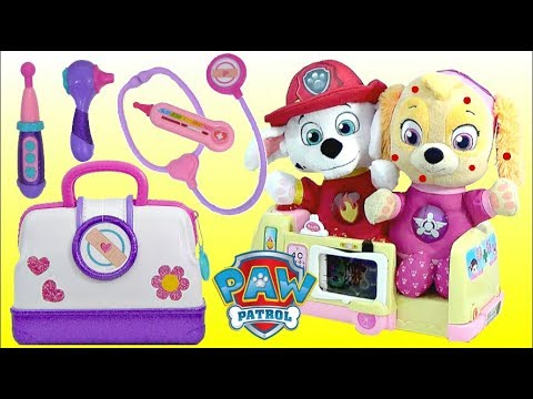 PAW PATROL Pup SKYE Gets Chickenpox and Visit a Toy Hospital