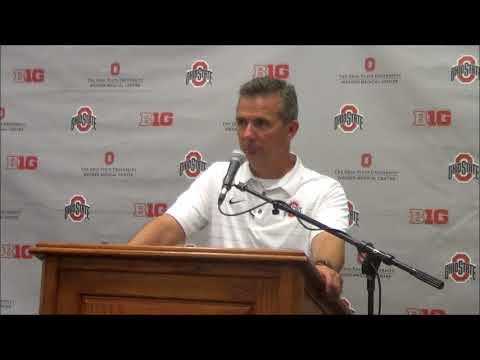 Head coach Urban Meyer following Ohio State