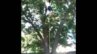 Tire Swing Installation Gone Bad
