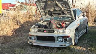 ヤフオクで18万円で競り落とした平成9年型インプレッサ・セダン・GC-8.速いし、楽しいし、最高のくるまじゃ。\(^o^)/ thumbnail