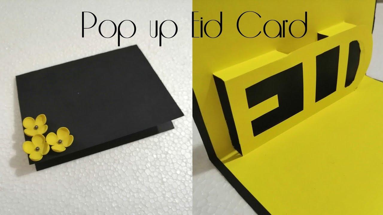 diy popup eid card  3d eid card  art craft and health
