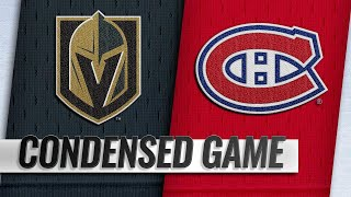 11/10/18 Condensed Game: Golden Knights @ Canadiens