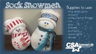 Sock Snowman DIY