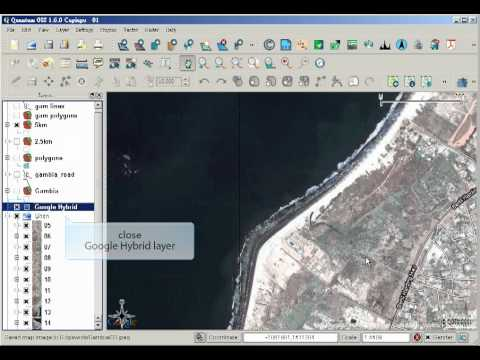 Quantum GIS use openlayer to load google map image