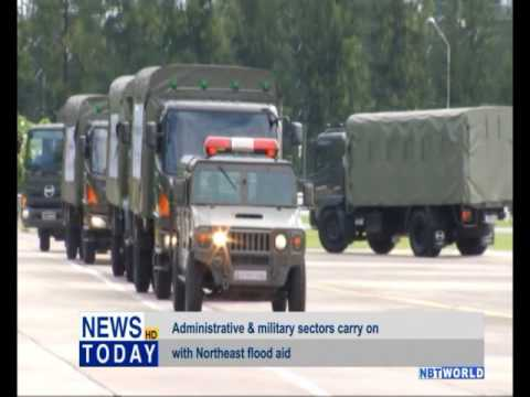 Administrative & military sectors carry on with Northeast flood aid