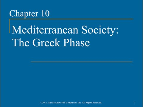 AP World History - Ch. 10 - Mediterranean Society: The Greek Phase
