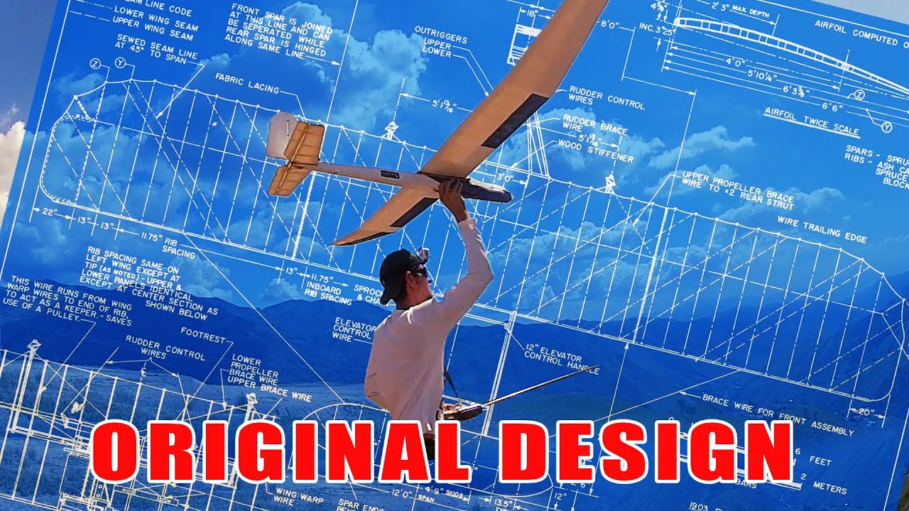 My original design RC glider classic balsa wood 2.25 meters