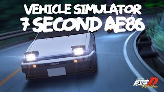 7 SECOND AE86. Vehicle Simulator ROBLOX
