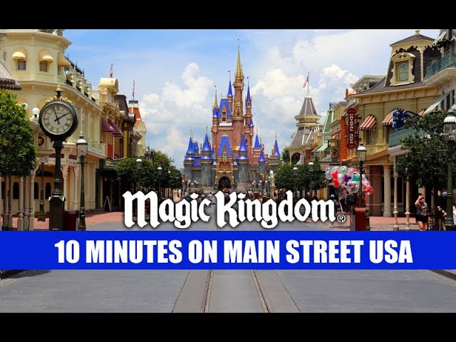 Walt Disney World Crowds 10 Minutes On Main Street USA Magic Kingdom Reopening Crowd Size