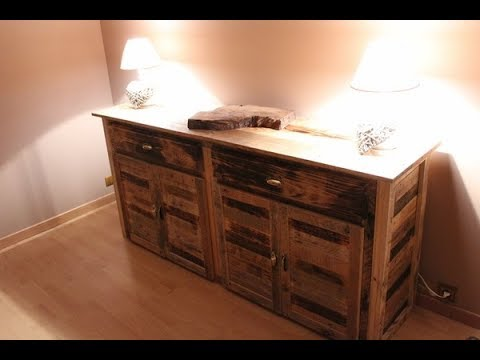 fabrication de ma commode de chambre en bois de palette partie 1