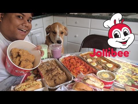 Epic Jollibee Food Challenge / Mukbang 5k Subs Thankyou!