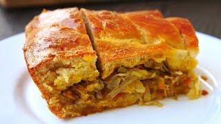 Вкусный Домашний Пирог с Капустой