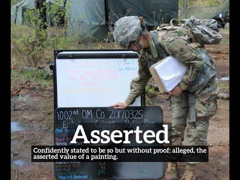 How Does Asserted Look? | What is Asserted? | How to Say Asserted in English?