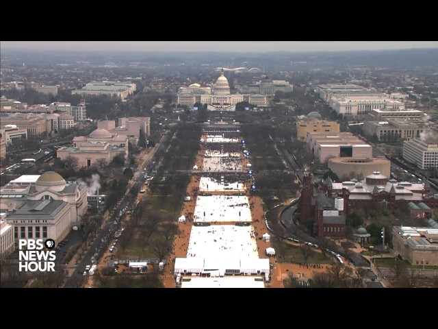 Watch a timelapse of the National Mall on Inauguration Day