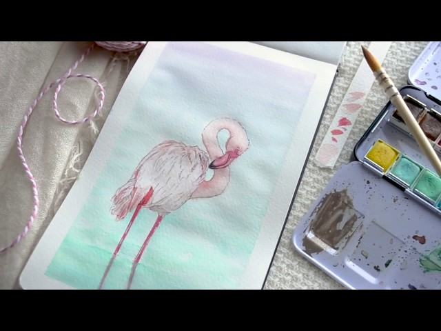 Pink Flamingo: Art B-Roll