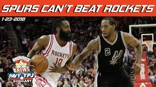 Can Spurs Beat Rockets If Healthy | Hoops & Brews
