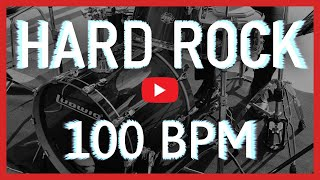 Powerful Hard Rock Drum Track 100 BPM [HD]