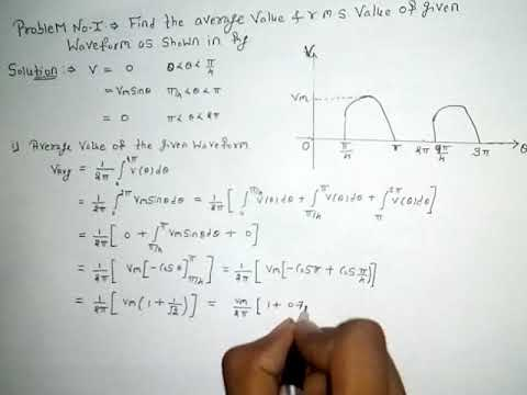 Problem no.1 related to average and RMS value Hindi
