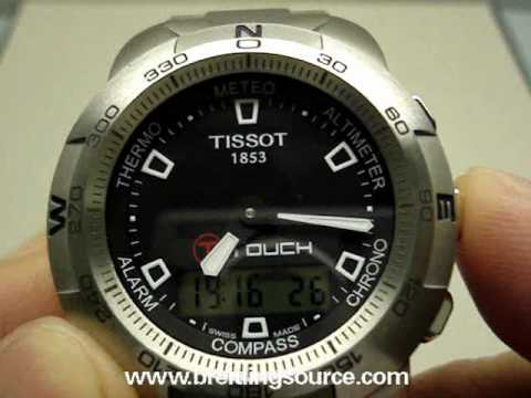 tissot t touch watch in stainless steel youtube rh youtube com tissot racing-touch user manual tissot sea touch user manual