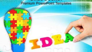 Colorful Jigsaw Puzzle With Word Idea Powerpoint Templates Ppt Backgrounds For Slides 0113 Pptx