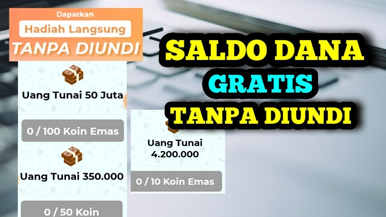 Saldo dana gratis hingga 22jt dari aplikasi penghasil saldo dana