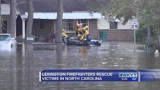 Lexington firefighter talks about helping with Hurricane Matthew