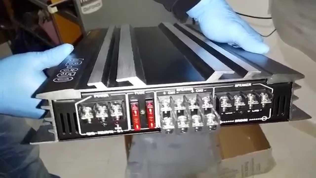 AMPLIFICATORE/amplifier AUNA AB-650 - YouTube