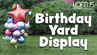 How To Make An Air Filled Birthday Yard Display Using Our Yard Pole And Stake Combo Lf 0346 Youtube