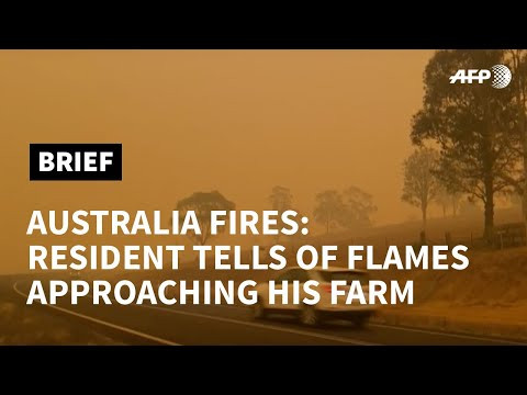 Australia fires: resident describes moments flames approached home | AFP