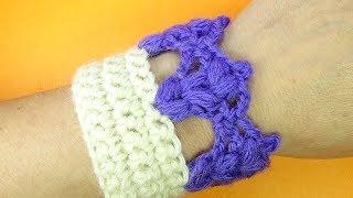 НЕОБЫЧНАЯ ажурная кайма вязание крючком   Crochet border урок вязания 369
